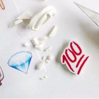 絵文字のネックレスを作ります