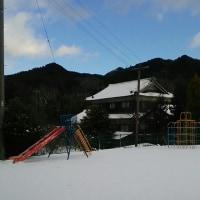 雪景色のあわてんぼう園庭です!