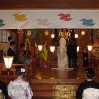 神前結婚式のご奉仕