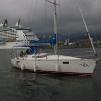 ロイヤルカリビアンインターナショナル、別府観光港停泊中と一緒の写真です、