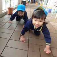 あお 3歳児 戸外遊び・発表会練習