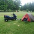 初日のキャンプ場