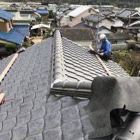岡山市北区御津町での屋根工事も順調に・・・