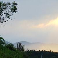 おじんでいのぉ畑から、、今日の夕陽