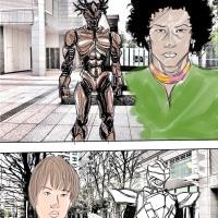 漫画ー728ページ ホワイトファング改VSクオーター魔人体