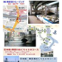 隅田川を下りながら支流(溝渠)を巡るたび① 第1回 船での隅田川の溝渠を確認してから旅立ち