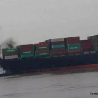 コンテナ貨物から出火  上海沖