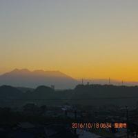 10月18日、朝の桜島