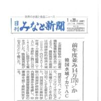 韓国スルメイカTAC設定以降の日本と韓国の当該魚種TAC設定比較