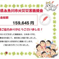新潟県糸魚川市火災災害義援金のご報告☀