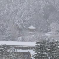 大雪の嵐山渡月橋
