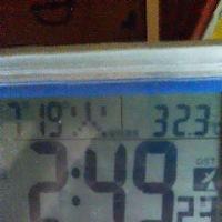 本日の室温32度