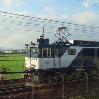 新幹線車内から撮ったEF64 3075レ (2017年4月23日ほか)