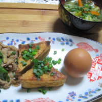 「肉・豆・卵」360kcal