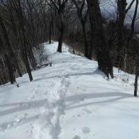 雪の青麻山