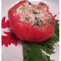 つ〇めグリルのトマトファルシ、みたいな♪