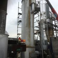 収集所の 焼却炉 煙突 溶接 交換作業 茨城 牛久