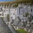 アルベロベッロの街(その3、油彩画)