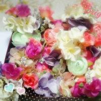 花嫁様のフラワーヘッドドレス&愛犬ぷぅちゃん(*^_^*)