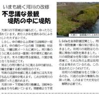 「いまも続く河川の改修」 沼南後援会ニュース4月号で大津川の改修についての提起です。