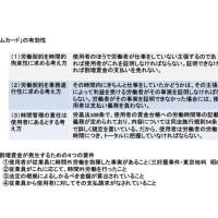 労働時間の認定の問題(2)