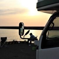 春の気まま旅 20日目 漁港でアジ釣り
