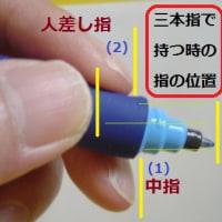 左手で(それらしい)字を書く方法(左手書字考)2ペン(筆記具)の持ち方
