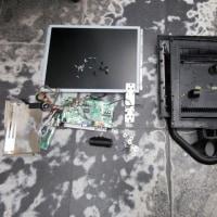 アナログ防犯カメラ用モニター故障で分解処理