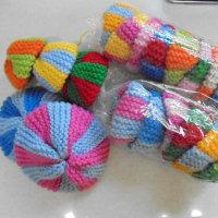 お婆さんの'手編みタワシ'元気も頂きます!