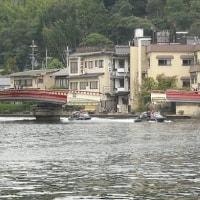 囲碁と天橋立の回転橋