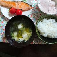 焼き鮭朝ごはん