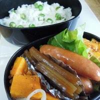 豆ご飯は、早炊きで!メロン幼果の肉詰めは、小さ目でしてね~