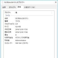 Windows10 Insider Preview の C:ドライブ に「GLOB」というファイルを複数見つけました。これって?