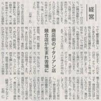 商店街のイタリアン店/競合店が生まれ苦境に・・・全国商工新聞記事