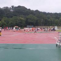 雨の中の「陸上競技会」