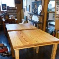 和束湯船産杉材で折りたたみテーブル