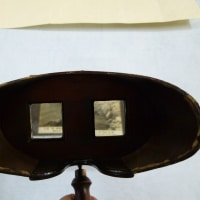 絵葉書 拡大鏡でしょうか 古の物 楽しい物ご覧あれ