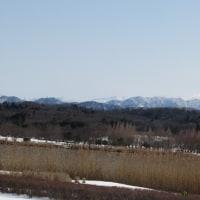 木場潟からの白山