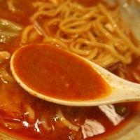 旨辛タンメン ファイヤーマウンテン@亀有 「ファイヤー冷やし味噌野菜(麺少なめ)+チャーシュー1枚」