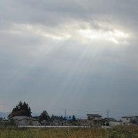 内小友の農村の天使のはしご