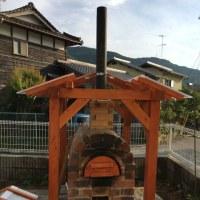 試験的な石窯の火入れ