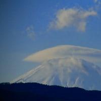 足柄平野から傘雲
