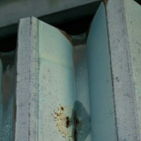 折板屋根の現場