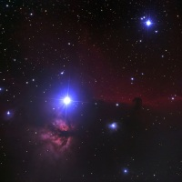 アルニタクと馬頭形暗黒星雲