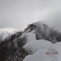 20170319福井県 経ヶ岳(杓子岳まで)