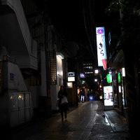 夜のはじまり 西新道通り