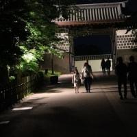 ライトアップの金沢城跡公園 ③