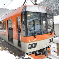 雪の叡電を行く(4)
