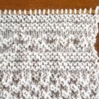 模様編み、試し編み