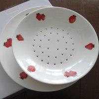 いちご皿にいちごを乗せて(*^0^*)